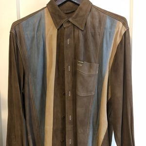 Faconnable Vintage Men's Goatskin Dress Shirt